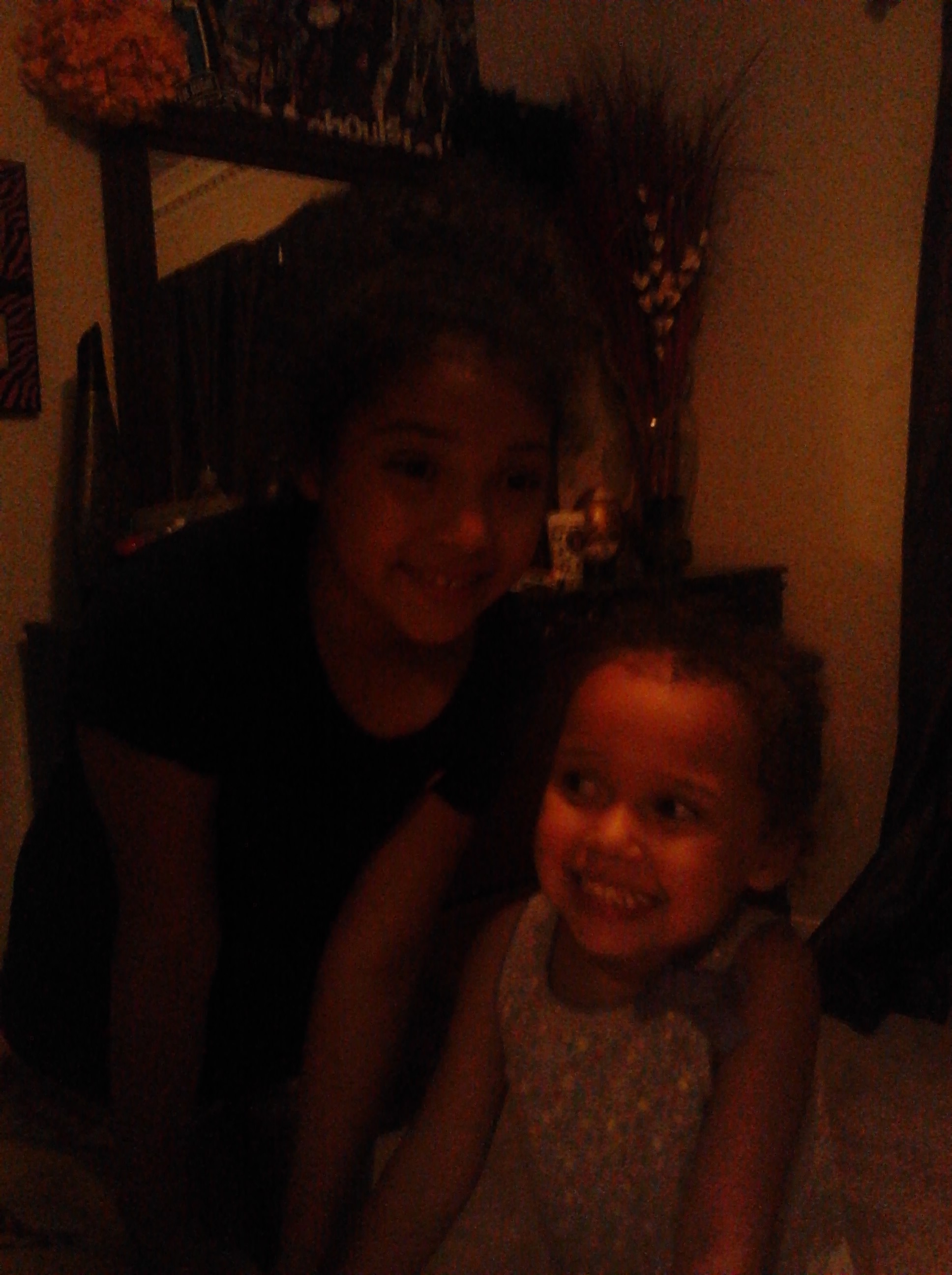 addie and livy at my house
